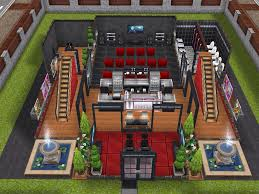 Sims Freeplay Second Floor Stairs by House 102 Cinema Ground Level Sims Simsfreeplay Simshousedesign