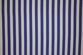 Material For Curtains And Blinds by Classic Blue And White Striped Fabric From The Stripes Company