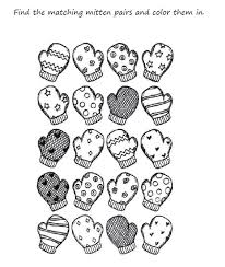 Enjoyable Inspiration Winter Coloring Pages For Preschool Mitten Printable