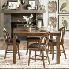 Create A Rustic Western Look With This Beautiful Five Piece Gathering Table And Chair Set