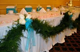 Plumosa Garland For Head Table