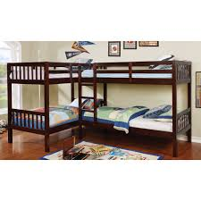 Twin Over Twin Bunk Beds With Trundle by Dark Walnut Double Twin Over Twin Bunk Bed With Trundle