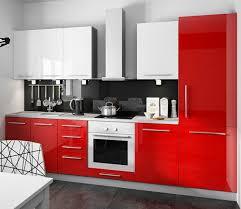 feldmann küchen 168891 290 cm hochglanz küchenzeile grau rosenrot und weiß