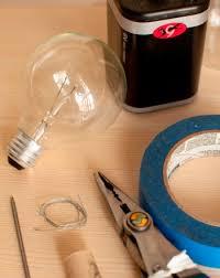 choosing a light bulb filament science project education