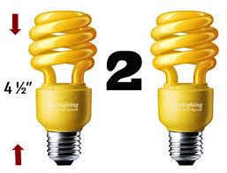 sleeklighting 13 watt yellow bug light spiral cfl light bulb