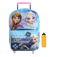 Frozen Backpack And Lunch Box New Girls Rolling W Free Bonus