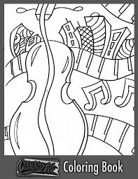 Free Coloring Book Page Upright Bass