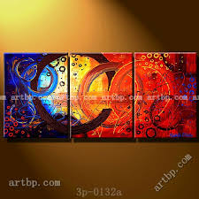 The Circle Story Oil Painting On Canvas Wall Decoration 3 Panel Pcs Set