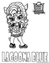 Picture Monster High Coloring Page 93 For With