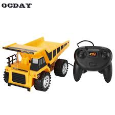 OCDAY 8021E RC Car Bulldozer Charging RTR Dump-car Remote Control Truck  Construction Vehicle Cars For Kids Toys Engineering Car