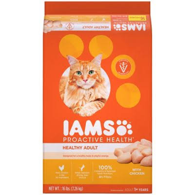 Iams Proactive Health Healthy Adult Original Dry Cat Food - Chicken, 16lbs