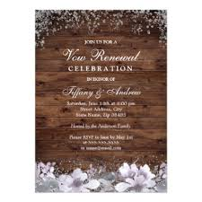 Rustic Wedding Vow Renewal Invitation