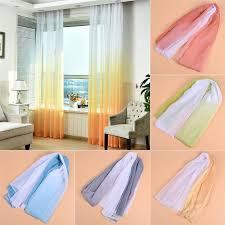 modern farbeverlauf gardienenstoff wohnzimmer deko bunt