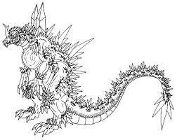 Godzilla Coloring Pages Free To Print