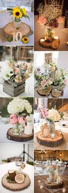 Wood Themed Wedding Centerpieces For Rustic Ideas 2017 Trends