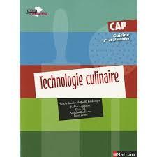 livre cap cuisine technologie culinaire cap cuisine 1e et 2e ées achat vente