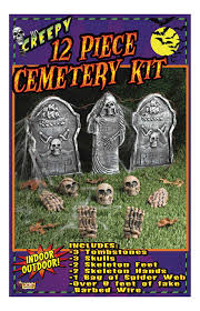 Funny Halloween Tombstones by Amazon Com Forum Novelties 12 Piece Cemetery Kit Multicolored
