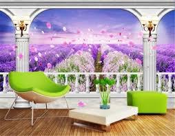 lila blumentapete hintergrund lila wandgemälde wand violett