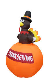 Halloween Blow Up Decorations by Amazon Com 6 Foot Tall Happy Thanksgiving Inflatable Turkey On