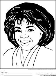 Black History Coloring Pages Oprah African American Kids Books