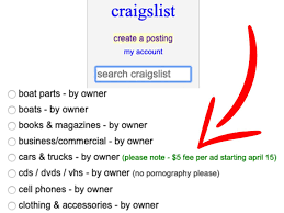 100 Craiglist Cars And Trucks Craigslist Car Listings Will Cost Private Sellers 5