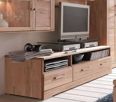 tv lowboard 176x47x60cm oben 2 fächer unten 1 schmale 1 breite schublade kernbuche massiv geölt casade mobila