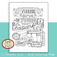 1 Timothy Be An Example Bible Journaling Di Karladornacher