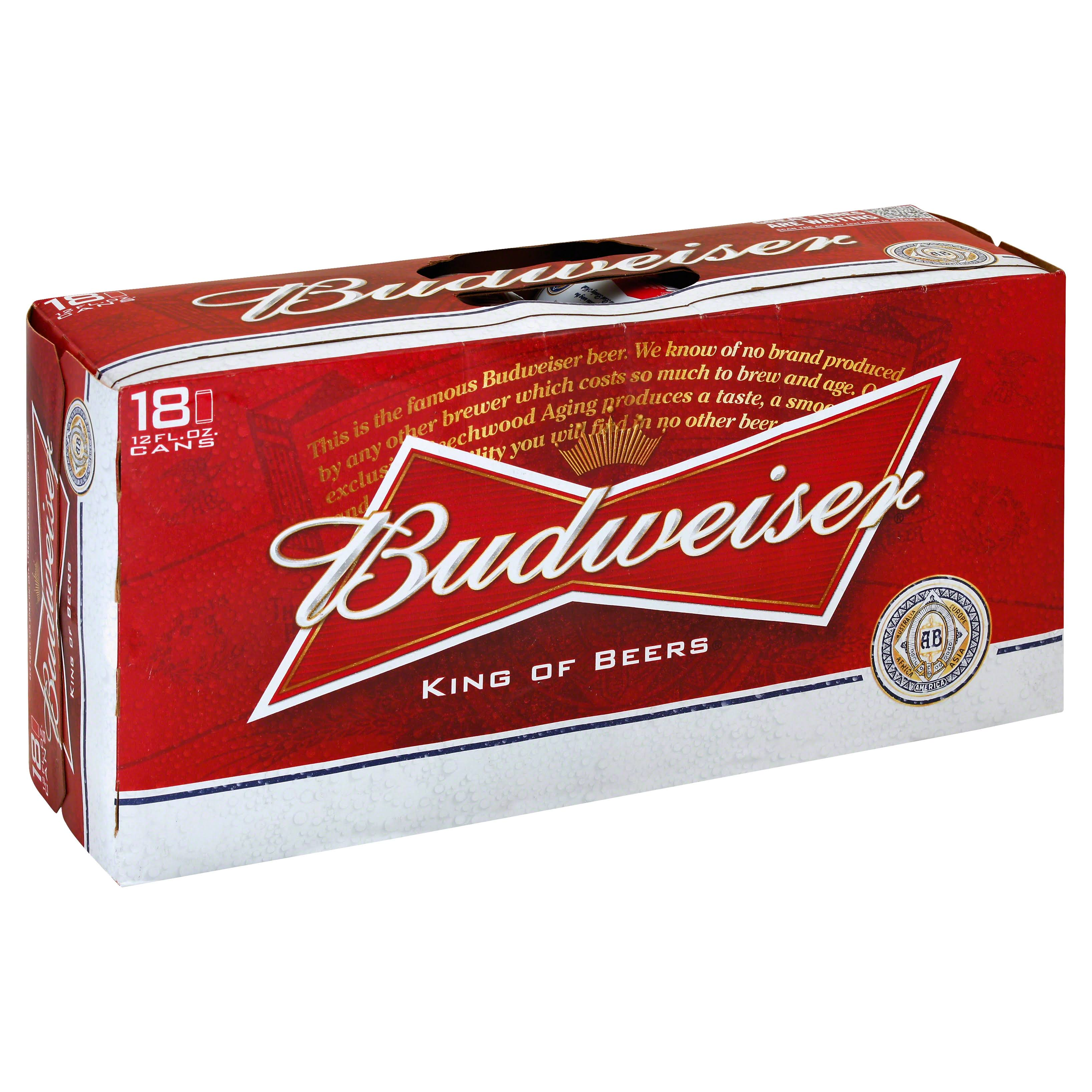 Budweiser American Lager - 18 Cans