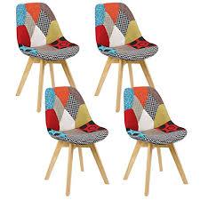 woltu 4er set esszimmerstühle küchenstuhl design stuhl esszimmerstuhl leinen holz mehrfarbig bh29mf 4