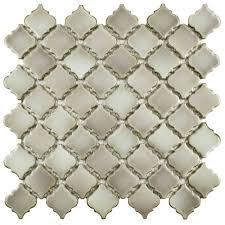Home Depot Merola Penny Tile by Merola Tile Hudson Diamond Grey Eye 12 3 8 In X 12 3 8 In X 5 Mm