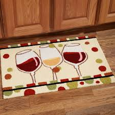 Wine Kitchen Decor Sets by Swanky Subway Wooden Floors Installations With Wine Glass Motive