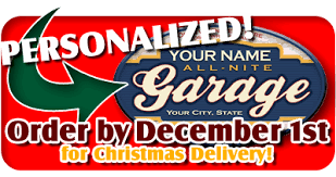 Custom Personalized Garage Signs Order By December 1st For