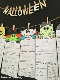 Halloween Multiplication Worksheets Coloring by Halloween Math Activities Halloween Place Value And Number