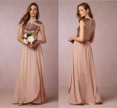 2016 newtwo pieces blush pink bridesmaid dresses rose gold sequins