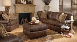 Rustic Convertible Furniture Features Dark Brown Leather Sofa Color Floral Pattern Cushions Pillows Square Shape Coffee Table Unique