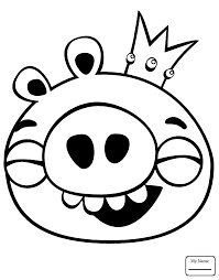 Cartoons Angry Birds Halloween Theme Coloring Pages For Kids