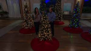 Slimline Christmas Trees With Lights by Kringle Express Glittery Pine Christmas Tree W Led Color Changing