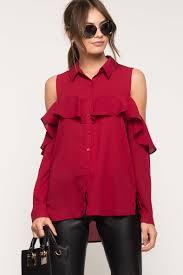 women u0027s blouses ruffle cold shoulder shirt a u0027gaci