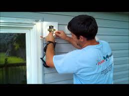 installing exterior home depot or lowes light fixture wmv