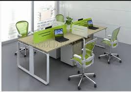 China 4 Person Melamine Staff Desk Particle fice Table fice