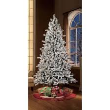 Dunhill Artificial Christmas Trees by Pre Lit 7 5 U0027 Flocked Birmingham Fir Artificial Christmas Tree