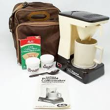 Vintage Melitta Coffee Maker Portable Personal One Cup Machine Bag