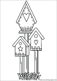 Cool Houses To Color Print Coloring Pages Bird Birdhouse Embroidery Kids