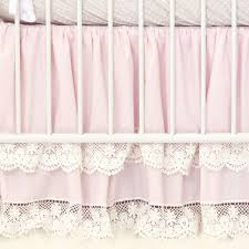 Pink And Purple Ruffle Curtains by Pink Vintage Lace Double Ruffle Crib Skirt Caden Lane