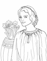 Esther Coloring Page Sketch