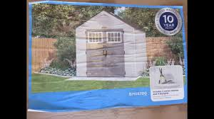 Suncast 7x7 Shed Accessories by 2017 Suncast Tremont Shed Build Youtube