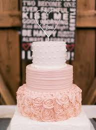 Rustic Blush Pink Weddding Cake Ideas