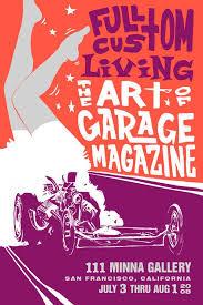 Announcement The Art Of Garage Magazine Poster Design