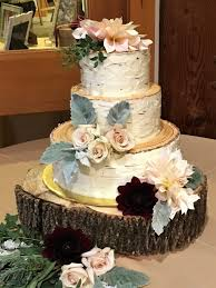 Buttercream Birch A Rustic All Bark Wedding Cake