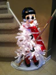 Christmas Tree Watering Funnel Canada by Hockey Snowman Christmas Tree Hockey Christmas Pinterest